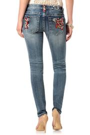 Miss Me Sweet Rose Skinny - Front cropped