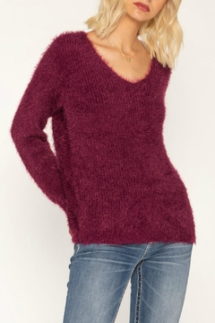 Miss Me Twisted Heart Sweater - Product List Image
