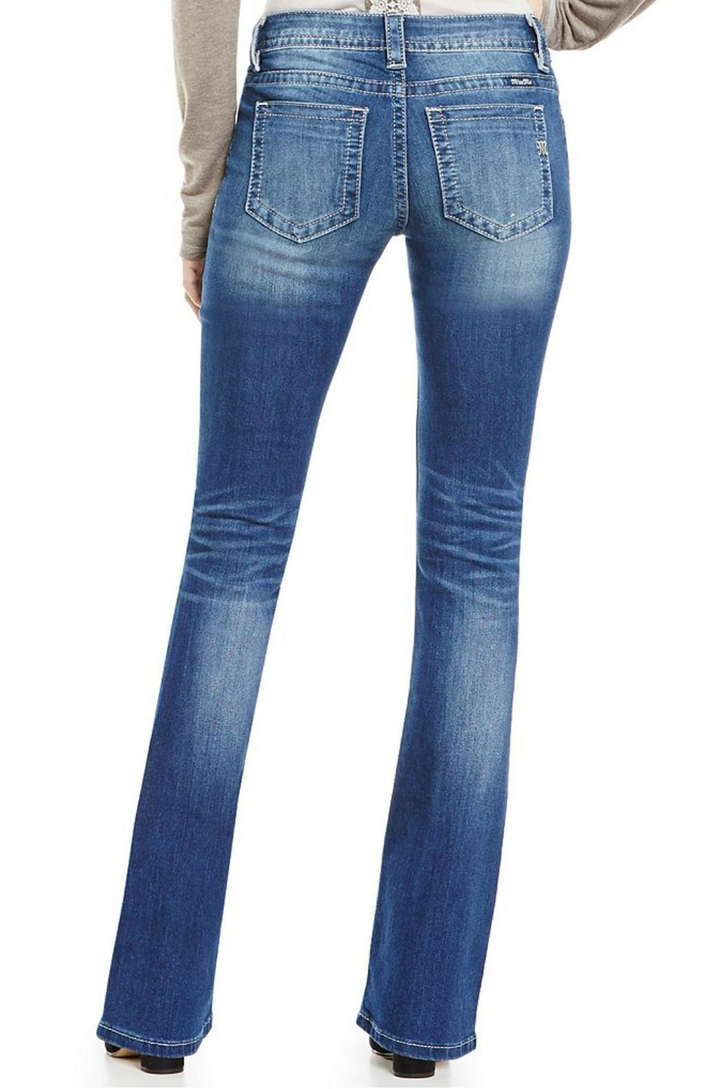 Miss Me Whiskered Mid Rise Jeans - Front Full Image