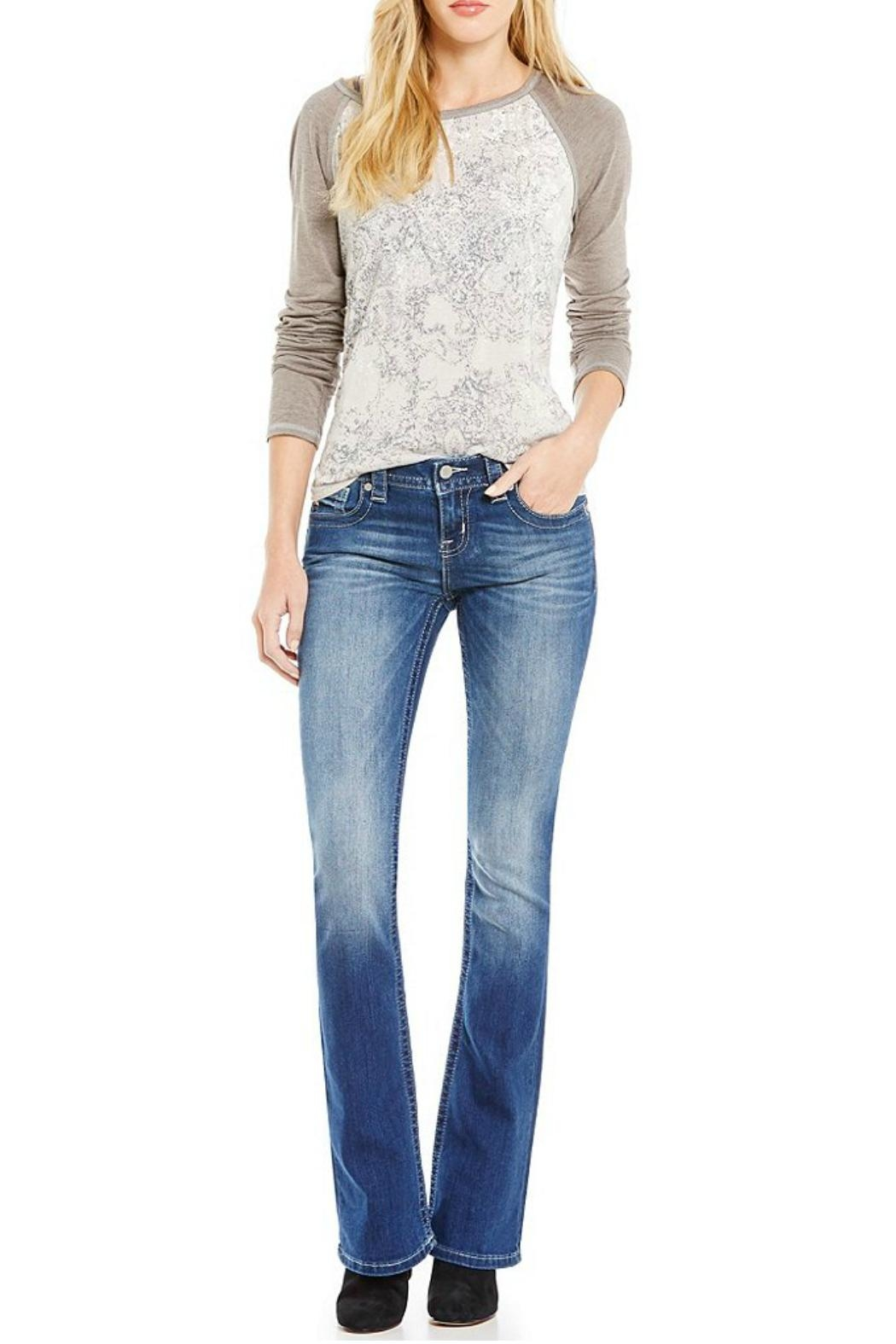 Miss Me Whiskered Mid Rise Jeans - Main Image