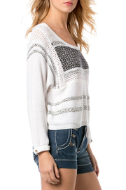 Miss Me White and Black Knit Sweater - Side cropped