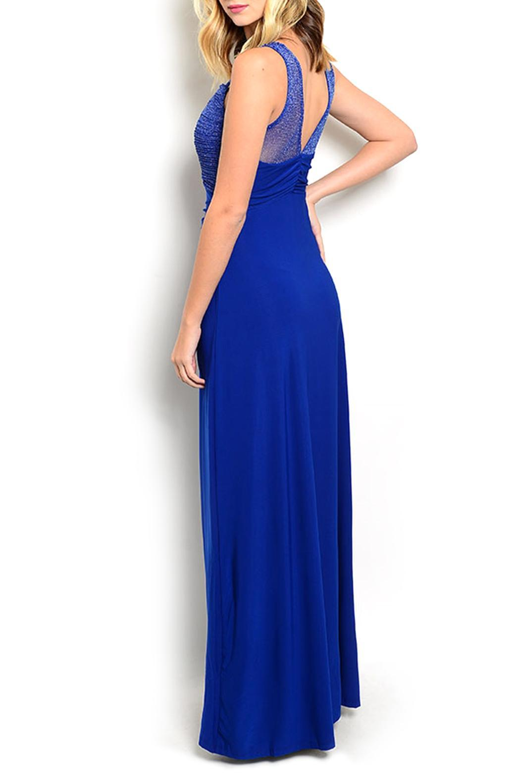 Miss Morena Royal Long Dress From Vancouver By Flattery Fashion Shoptiques