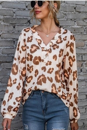Miss Sparkling Animal Print Top - Product Mini Image