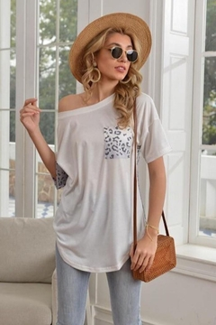 Miss Sparkling Snow Leopard Tee - Product List Image