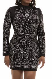 MISSORD Black Studded Dress - Front cropped