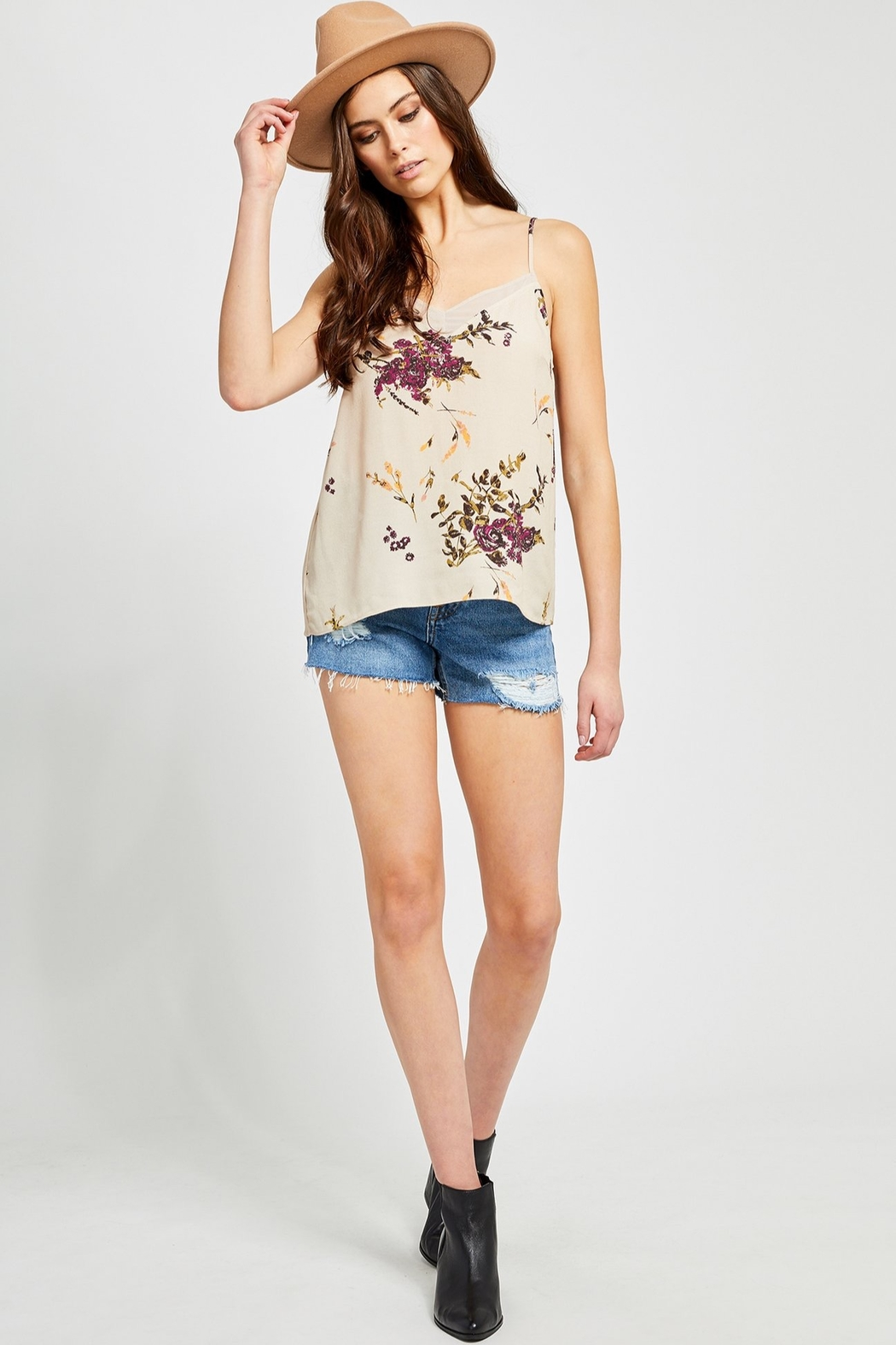 Gentle Fawn Missouri Floral Cami - Front Cropped Image