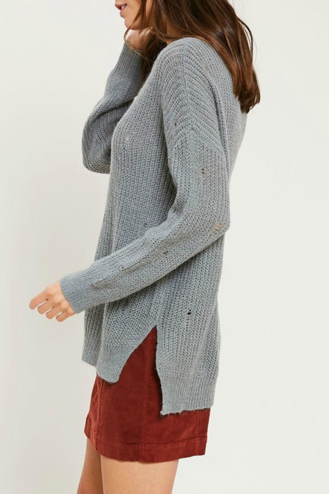 Wishlist Missy Distressed Sweater - Side Cropped Image
