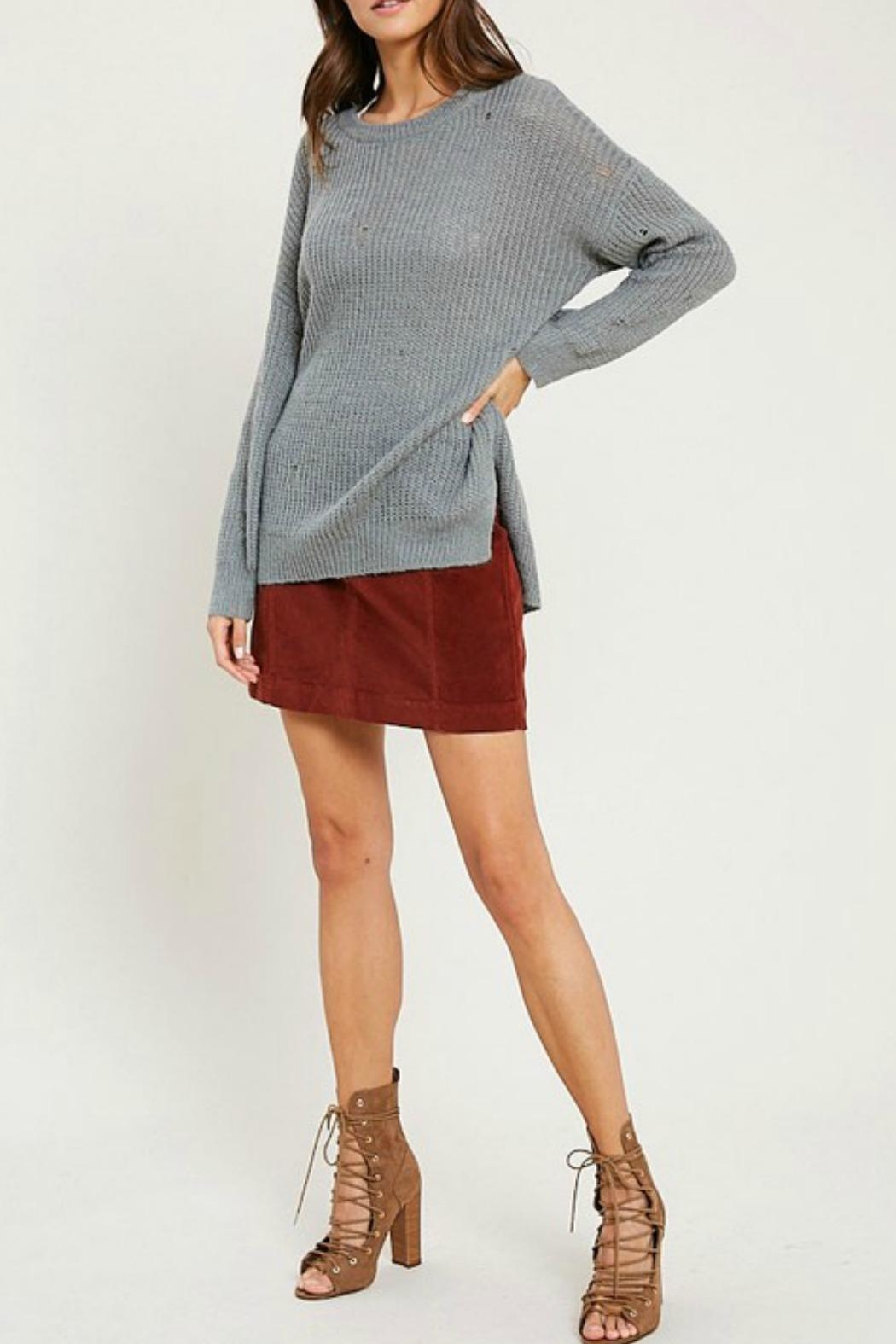 Wishlist Missy Distressed Sweater - Front Cropped Image