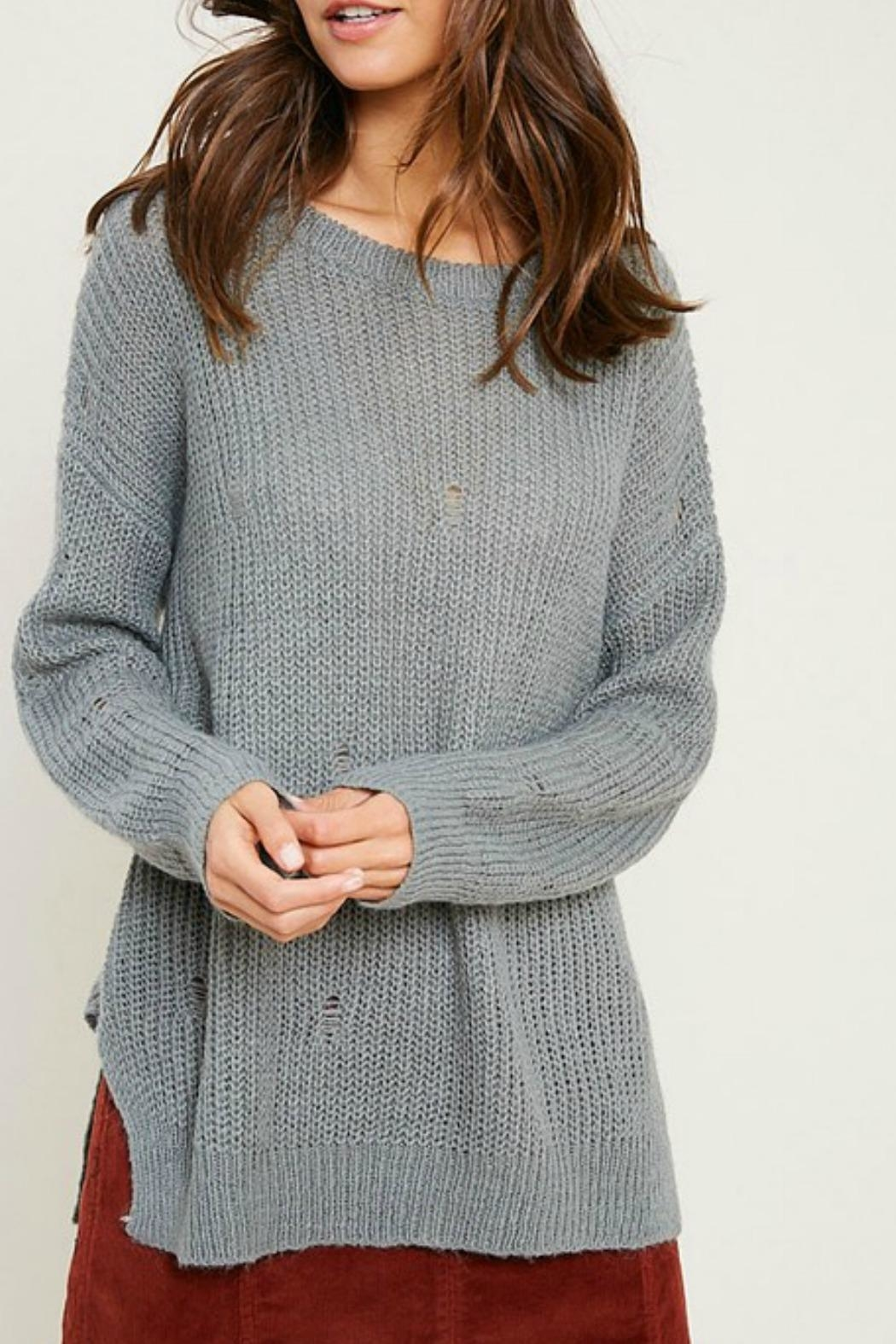 Wishlist Missy Distressed Sweater - Front Full Image
