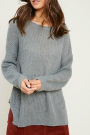 Wishlist Missy Distressed Sweater - Front full body