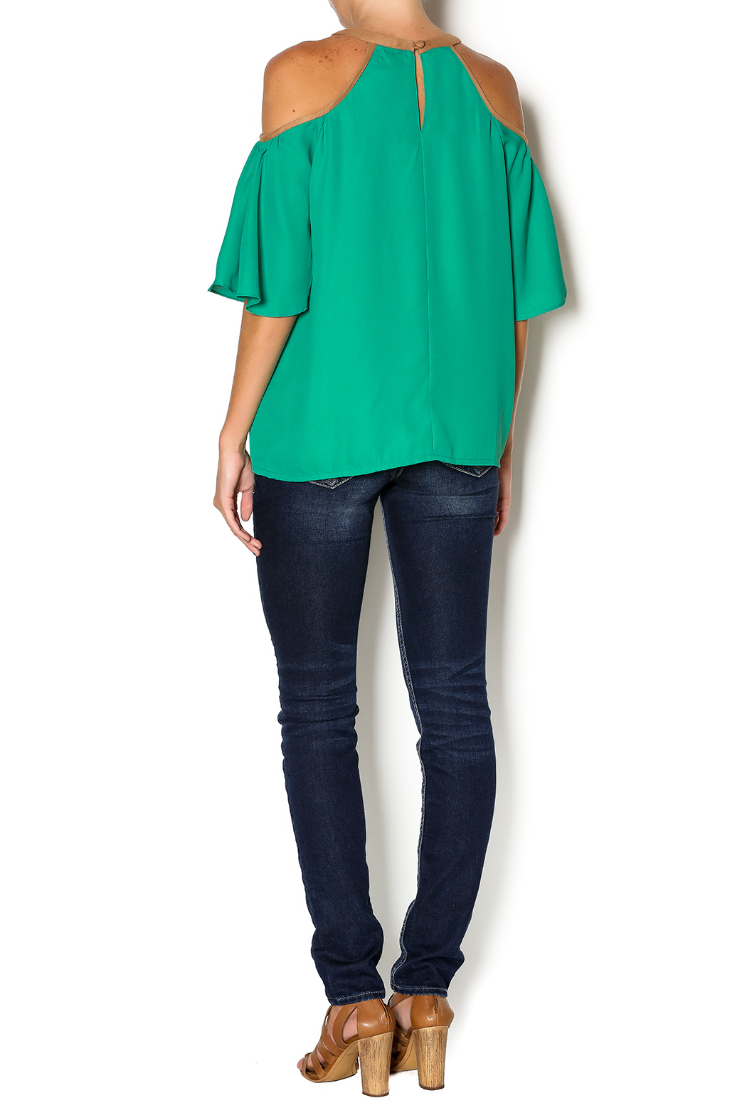 Missy Robertson Cold Shoulder Top - Side Cropped Image