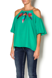 Missy Robertson Cold Shoulder Top - Front cropped