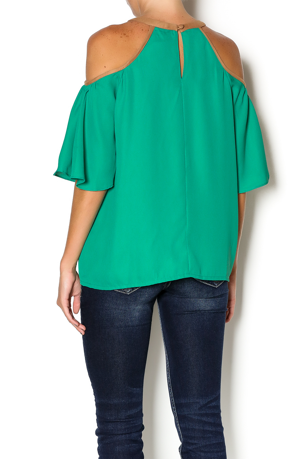Missy Robertson Cold Shoulder Top - Back Cropped Image