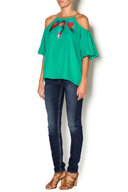 Missy Robertson Cold Shoulder Top - Front full body