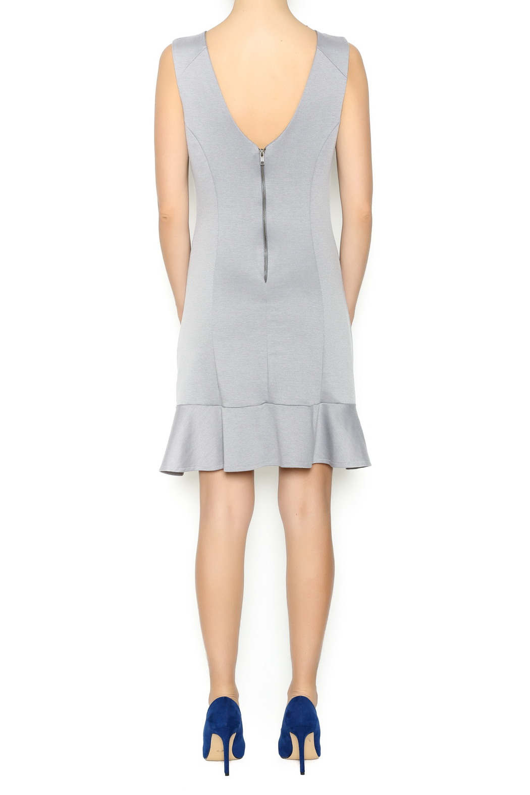 Missy Robertson Grey Dress - Side Cropped Image
