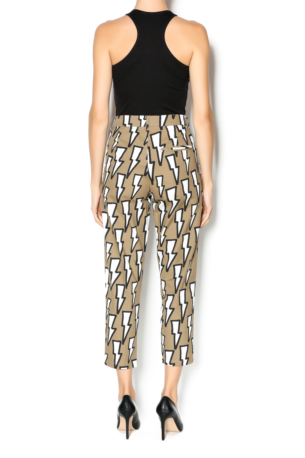 Missy Skins Lightning Bolt Print Pant - Side Cropped Image
