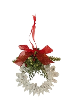 Ganz Mistletoe Wreath Ornament - Alternate List Image
