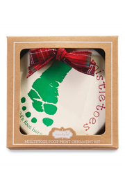 MudPie Mistletoes Foot Print Ornament Kit - Front full body