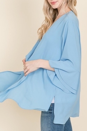 Racheal Misty Blue Cardigan - Side cropped