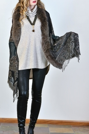 Mitchies Matching Fox Fur Wrap - Front full body