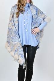 Mitchies Matching Fox Fur Wrap - Front cropped