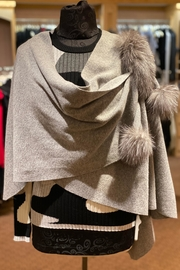 Mitchies Matching Fox Trim Wrap - Front cropped