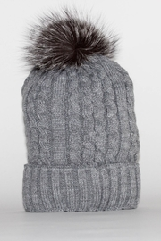 Mitchies Matching Grey Pom Hat - Product Mini Image