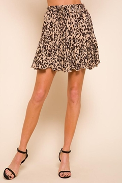 Shoptiques Product: Animal Print Flowy Skirt