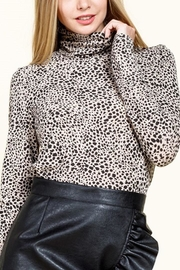 Mittoshop Animal-Print Mock-Neck Top - Product Mini Image