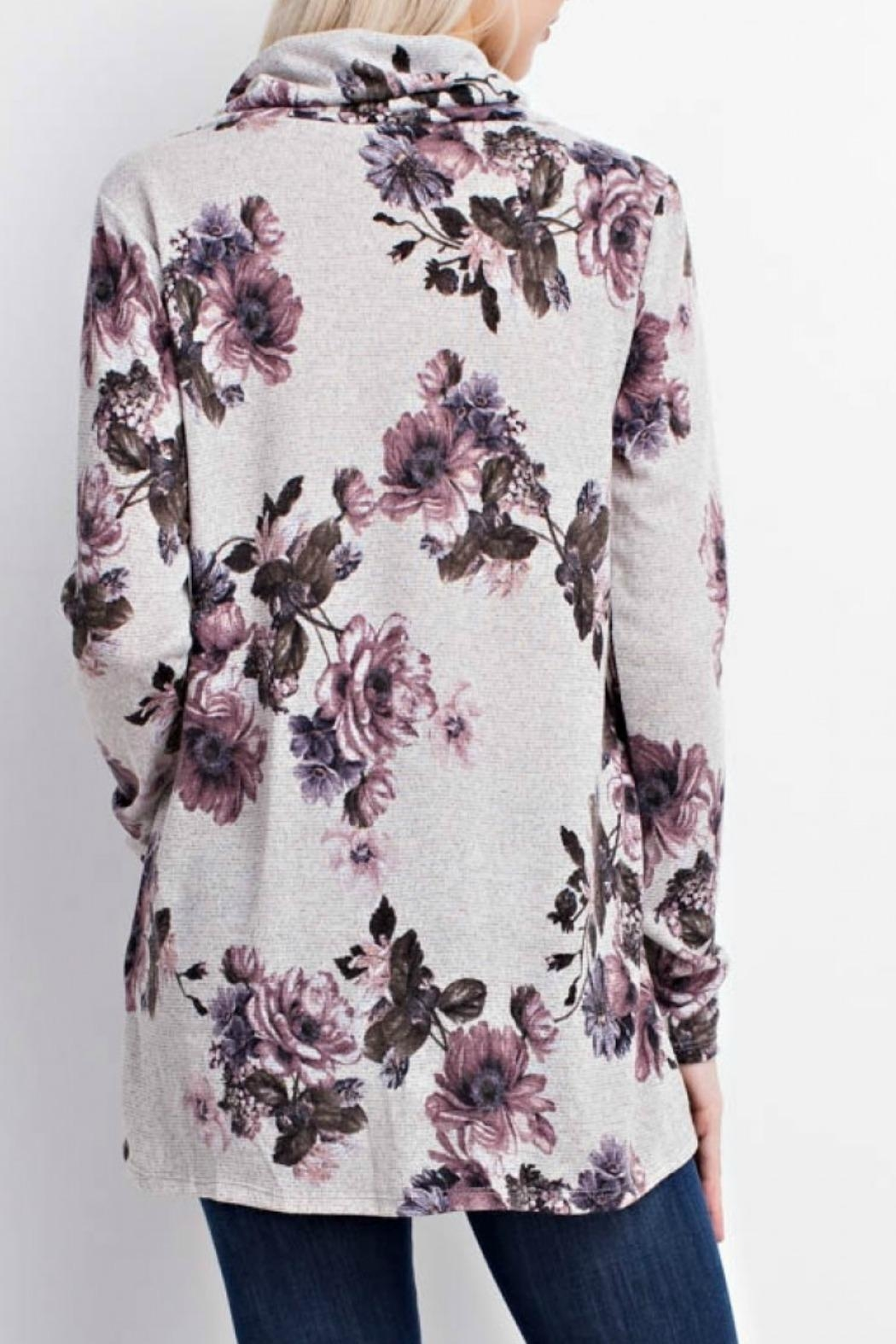 Mittoshop Becca Floral Sweater - Side Cropped Image