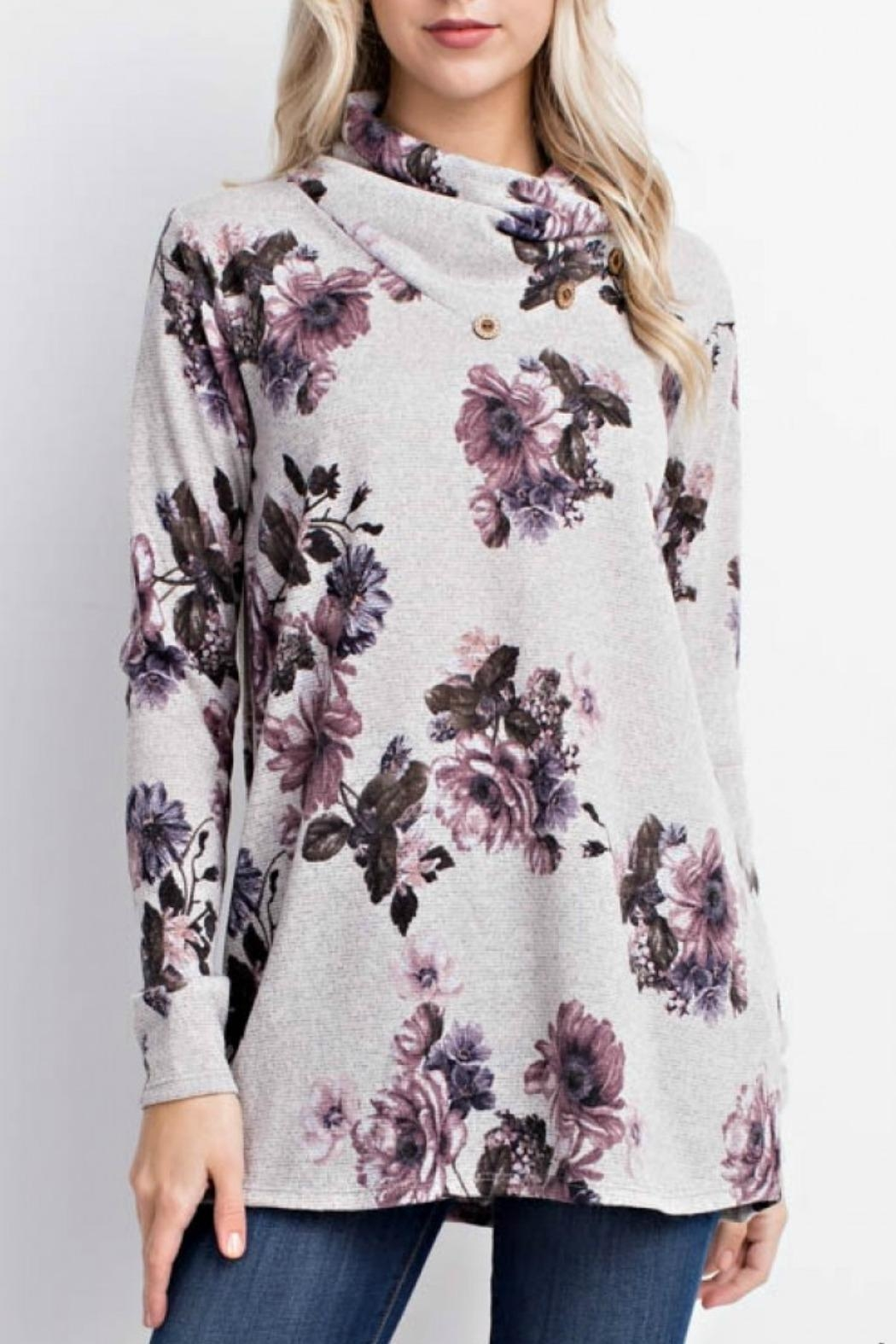 Mittoshop Becca Floral Sweater - Main Image