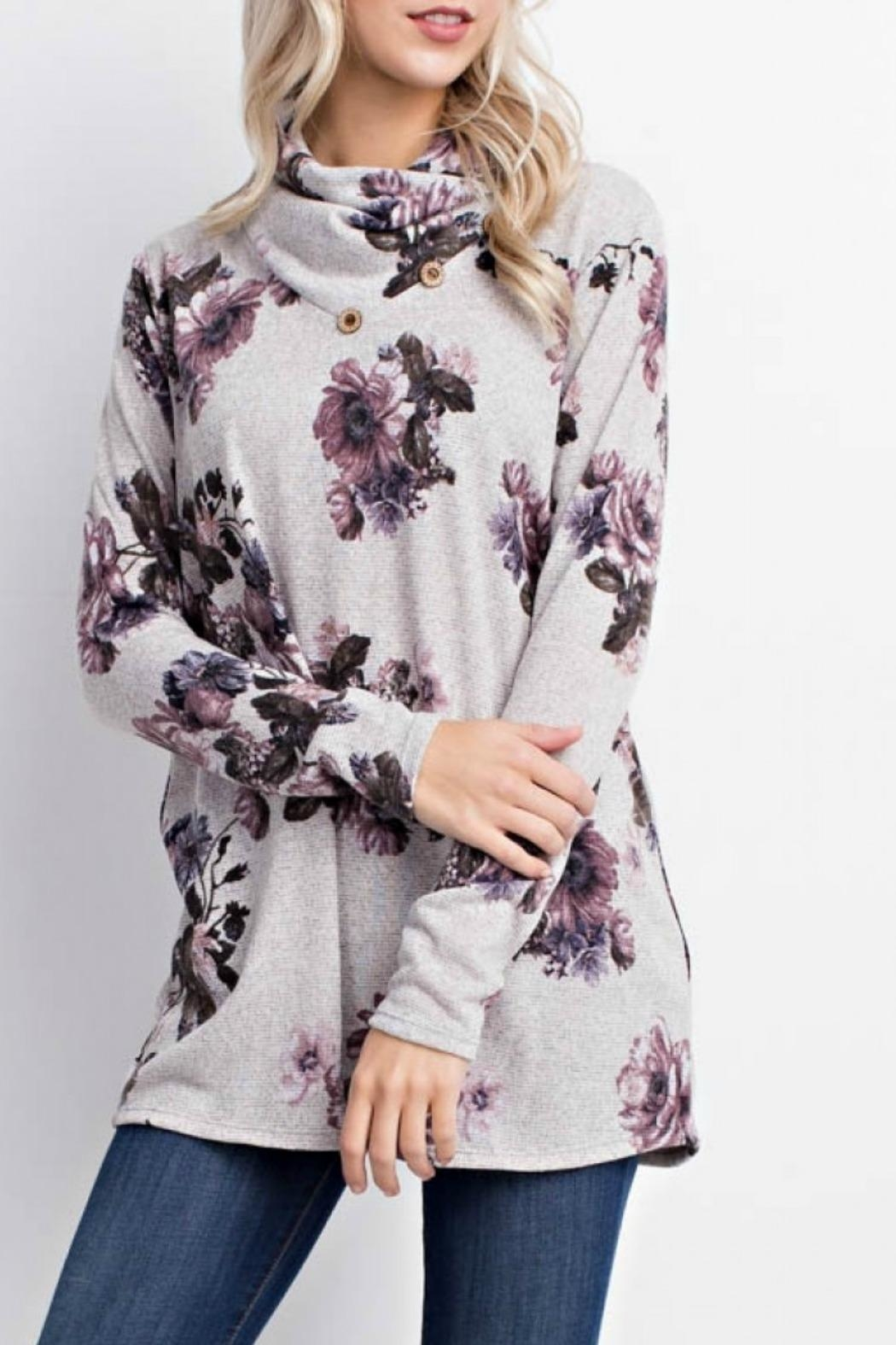Mittoshop Becca Floral Sweater - Front Full Image