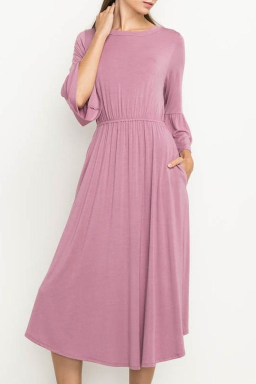 Mittoshop Bell Sleeve Dress - Front Full Image