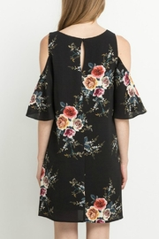 Mittoshop Black Floral Dress - Front full body