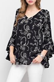 Mittoshop Black Printed Top - Product Mini Image