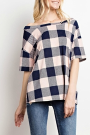 Mittoshop Blush Plaid Top - Front cropped
