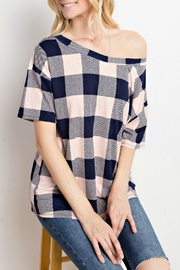 Mittoshop Blush Plaid Top - Side cropped
