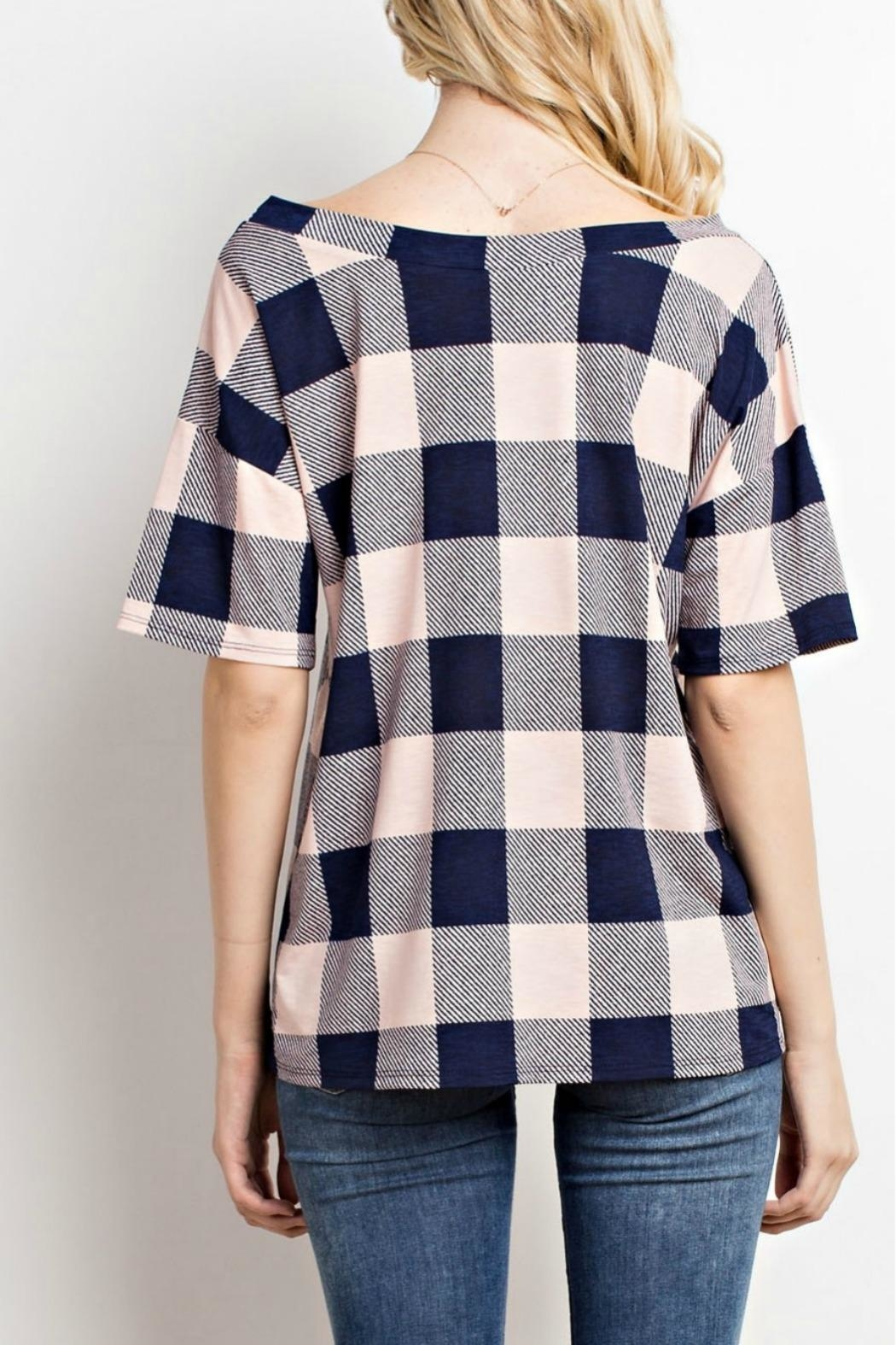 Mittoshop Blush Plaid Top - Front Full Image