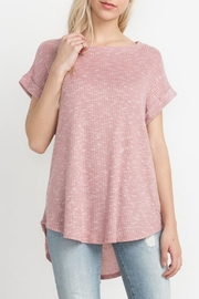 Mittoshop Blush Ribbed Tee - Front cropped