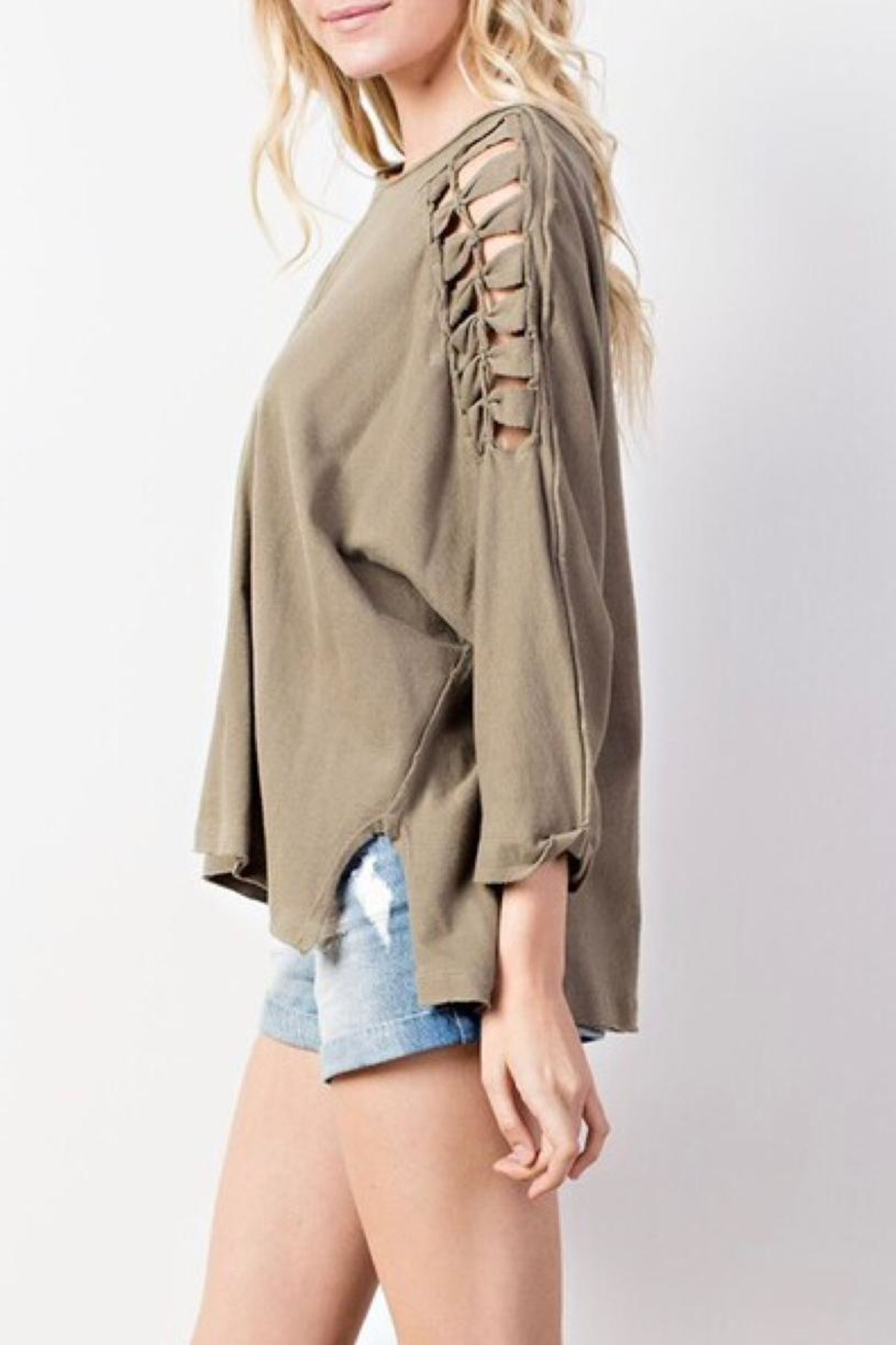Mittoshop Braided Shoulder Top - Front Full Image