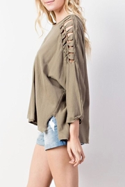 Mittoshop Braided Shoulder Top - Front full body