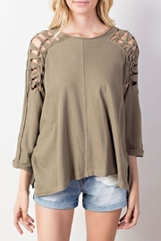 Mittoshop Braided Shoulder Top - Product Mini Image