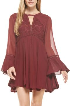 Shoptiques Product: Burgundy Key-Hole Dress
