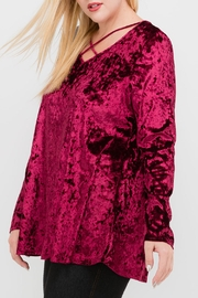 Mittoshop Burgundy Velvet Tunic - Product Mini Image