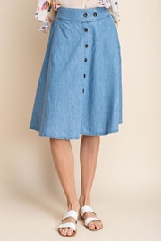 Mittoshop Chambray Skirt - Back cropped