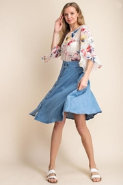 Mittoshop Chambray Skirt - Front cropped