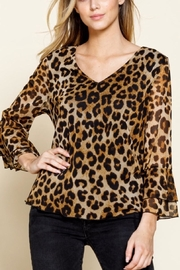 Mittoshop Cheetah Print Bell Sleeve Top - Product Mini Image