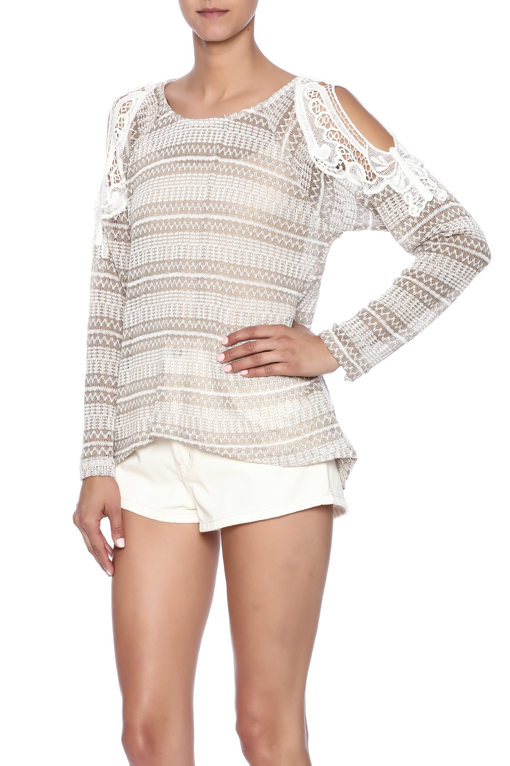 c7593c71692896 Mittoshop Cold Shoulder Knit Top from Idaho by Garment District ...