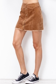 Mittoshop Corduroy Skirt Camel - Back cropped