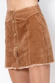 Mittoshop Corduroy Skirt Camel - Front full body